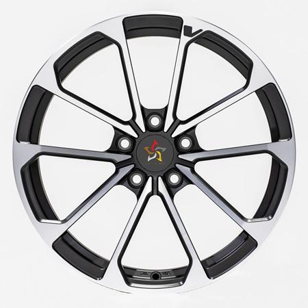 bright black Cadillac wheels