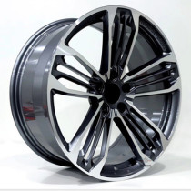 Cadillac CT4 18 inch 9.5J forged wheels alloy 6061 gun metal machine face and bright black