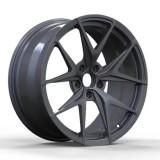 Cadillac SRX 20 inch 9J forged wheels alloy 6061 gun metal and bright black