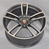 Porsche 911 20 inch 9J forged wheels alloy 6061 Bright black machine face and Matte black