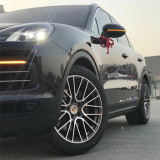 Porsche Cayenne 21 inch 10J forged wheels Aluminum alloy 6061 Bright gray machine face and bright black