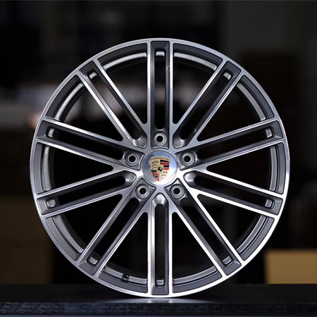 Porsche Macan 21 inch 9J forged wheels alloy 6061 gun metal machine face and gray machine face