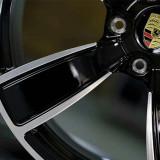 Porsche Macan 22 inch 9.5J forging 5 spokes wheels Aluminum alloy 6061 bright black machine face