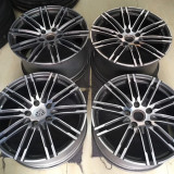 Porsche Panamera 20 inch 10J forged wheels alloy 6061 Bright black machine face and Matte black gray