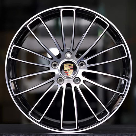 Porsche Panamera 21 inch 11.5J forging wheels Aluminum alloy 6061 T6 bright black machine face