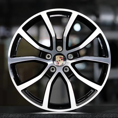 Porsche Macan 21 inch 11J forging wheels Aluminum alloy 6061 T6 bright black machine face