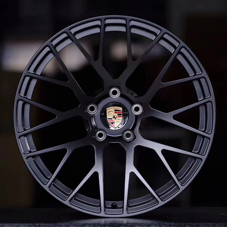 Porsche Cayenne 20 inch 9.5J forged wheels alloy 6061 Bright black machine face and Matte black