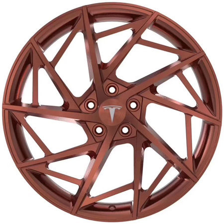 Tesla Model 3 21 inch 9J forged wheels Aluminum alloy 6061 bright black or red bronze