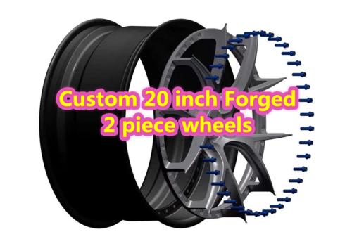 Custom 20 inch Forged 2 Piece Wheels