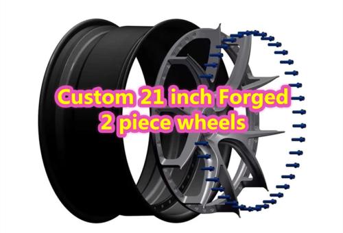 Custom 21 inch Forged 2 Piece Wheels