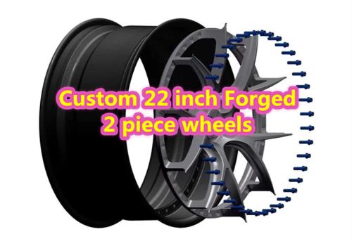 Custom 22 inch Forged 2 Piece Wheels