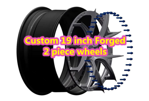 Custom 19 inch Forged 2 Piece Wheels