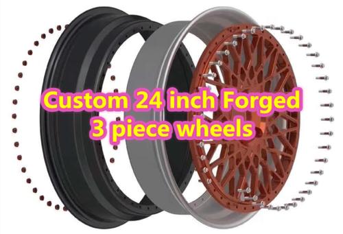 Custom 24 inch Forged 3 Piece Wheels