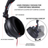 Original SOMIC MM185 Professional DJ Monitor Headphone 50mmHD Stereo Foldable Gaming Headset with 3.5mm 6.3mm Jack for phone