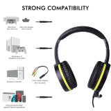 SOMIC Gaming Headphone With Microphone for PS4 Foldable Wired Stereo Headset with Detachable Mic 3.5mm for Laptop phone G801