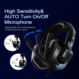 SOMIC G909PRO Vibration USB LED Gaming Headset Noice Cancelling Headphone Stereo Headset Gamer 7.1 Surround Sound Earphones