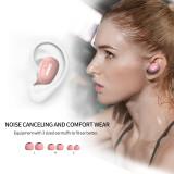 SOMiC W10 Earphone TWS Bluetooth 5.0 Wireless Earbuds Sports Headset LDS Laser Single Binaural Use Noise Canceling Headphones