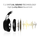 SOMIC G936N Build in 7.1 Virtual Surround Sound Gaming Headsets USB 3.5mm Noise Cancelling Headphones for PUBG LOL PS4 PC Games