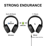 Somic SC2000 Active Noise Reduction Wireless Bluetooth Headphone HIFI Sound Music Headset ANC Wired Headband APTX CSR