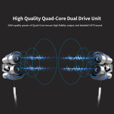V4 HiFi Sound Double Moving-Coil In-ear Earbud 3.5MM plug Music Mobile Headphone