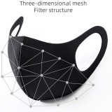10 Pcs Reusable Pitta Styled Face Masks Breathable Dustproof - Black