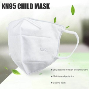 10PCs KN95 Disposable Face Masks for Children, 4 Layer Filtering, Protects Against Dust, Germs, Bacteria, Droplets - White