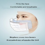 100 Pcs Disposable Safety Breathing Filter, Dust-Proof and Skin-Friendly Filter Pads, Disposable Air Purifying Respirator Face Filter Pad