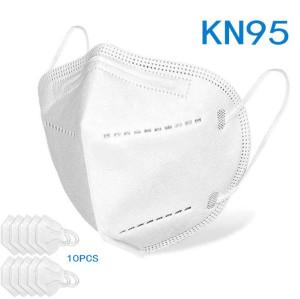 KN95 Disposable Face Masks, Disposable Respiratory Mask Face - 10PCS