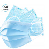 Disposable Face Mask 3-Ply Masks  Sanitary Surgical Masks - 50PCS