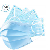 Disposable Face Mask 3-Ply Masks  Sanitary Surgical Masks - 50PCS
