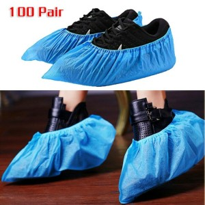 Premium Thick Extra Large Waterproof Disposable Boot & Shoe Covers - 100PCS