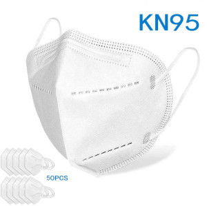 KN95 Disposable Face Masks, Disposable Respiratory Mask Face - 50PCS