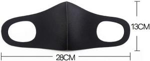 10 Pcs Reusable Pitta Styled Face Masks Breathable Dustproof - Black