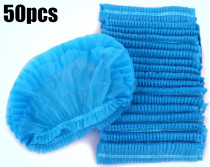 50 Pcs Disposable Elastic Bouffant Caps, Latex Free, Hair Restraint, Head Cover For Food Service, Cooking, Labs