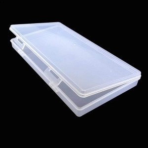 Face Cover Container, Portable Storage Box Transparent Organizer, Plastic Stationery Case Dustproof for Home Office - 5pcs