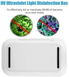 Patented UV Phone Sanitizer With Wireless Charging, Portable UV Lights Cell Phone Sterilizer Box, Aromatherapy Function, Disinfect Germs, Virus