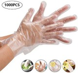 Disposable Gloves, Transparent, Plastic Gloves,for Cleaning Safety Food Handling Latex Free, Powder Free - 1000PCS