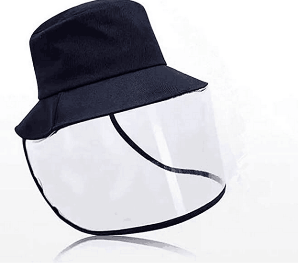 Face Shield Anti-Spitting Hat, Safety Face Shields Anti-Saliva Protective Cap Cover Adjustable Size