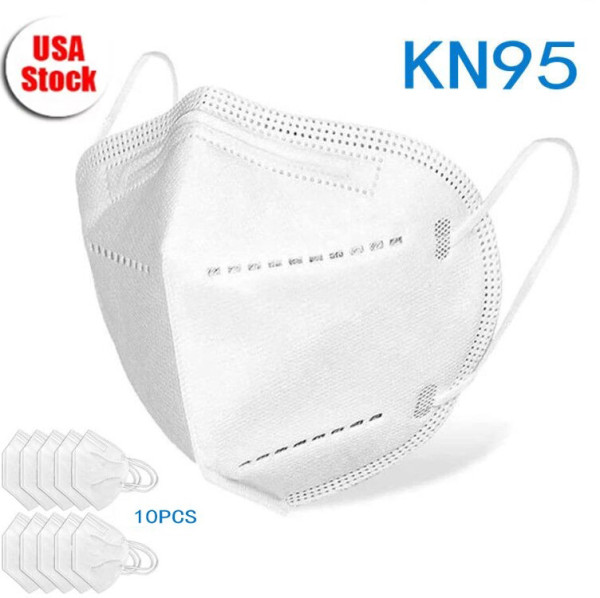 10 Pcs KN95 Disposable Face Masks, Disposable Respiratory Mask Face - USA Stock