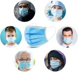 50 Pcs Disposable Face Mask, 3-ply, Thick Layers, Breathable, Dustproof - USA Stock