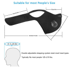 2Pcs activated carbon PM2.5 mask with gasket, with breathing valve, outdoor mask, reusable