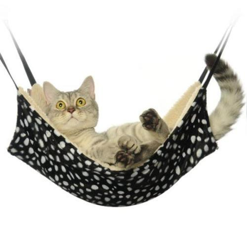 Warm Cat Hammock Fur Bed Hanging Cage  Bed Cover Blankets Rest House Soft Pets Supplies