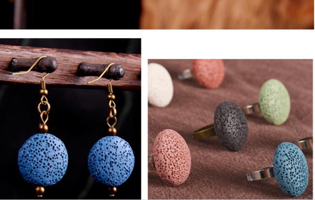 Diy Personal Extrusive Rock Hand-work Hand Chain Round Accessories