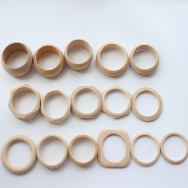 16 Pcs Diy Wooden Hand-work Bracelet