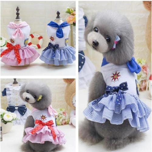 Dog Dress Cartoon Pattern Pet Clothes