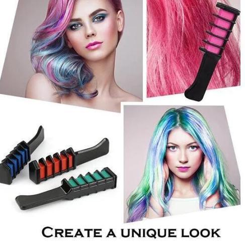 TEMPORARY HAIR DYE COMB (6 PCS / SET)