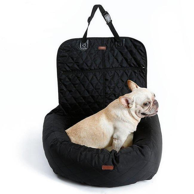 Seat Carrier Basket Soft Pet Safety Vehicle Bed Seat Cover