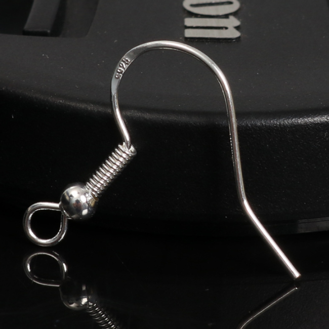 10 Pcs Hand-made diy sterling sliver ear hook accessories