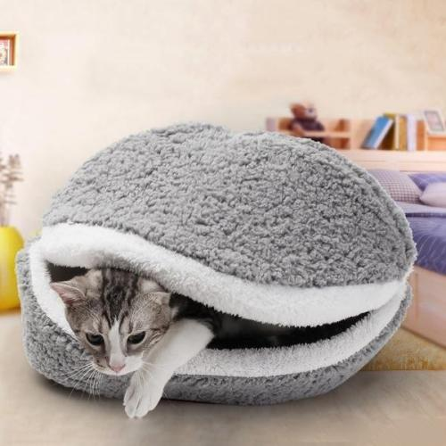 Hamburger Shape Pet Bed Removable Cotton Soft Bed Puppy House Kitten Cushion Pillow