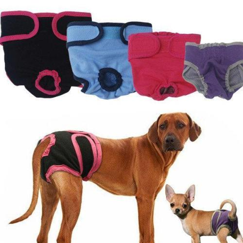 Reusable Dog Pets Diaper Physiological Pants Washable Female Sanitary Pants Big Dog